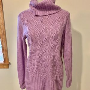 Sonoma Supersoft Orchid Turtleneck Tunic Sweater
